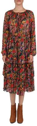 The Kooples Floral Tiered Peasant Dress
