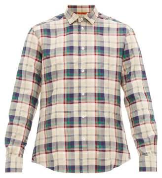 Barena Venezia - Checked Twill Shirt - Mens - Beige Multi