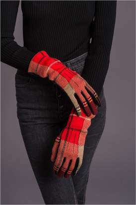 Sonia Rykiel Reversible Leather And Wool Gloves