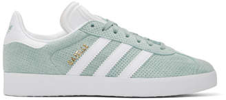 adidas Green Perforated Gazelle Sneakers