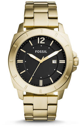 Fossil Privateer Sport Three-Hand Date Gold-Tone Stainless Steel Watch