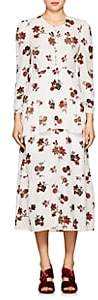 A.L.C. Women's Zandra Floral Silk Crepe Dress-Ivorybone Size 0