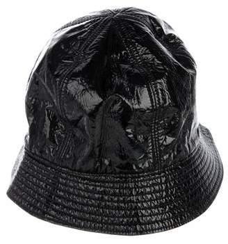 Maison Michel Patent Leather Bucket Hat