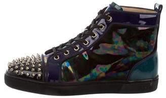 Christian Louboutin Louis Spikes Pat Stellar Sneakers