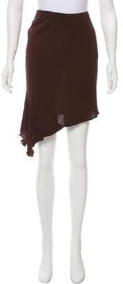Yigal Azrouel Asymmetrical Knee-Length Skirt w/ Tags