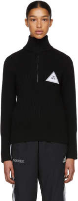 Gosha Rubchinskiy Black Zip Collar Knit Sweater