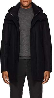 Piattelli Men's Hooded Wool Parka - Navy