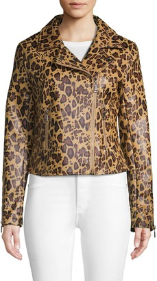 Vigoss Cheetah Print Moto Jacket