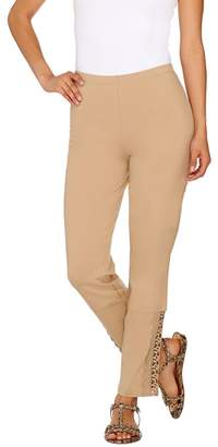 Women With Control Women with Control Slim Leg Ankle Pants with Lace Detail
