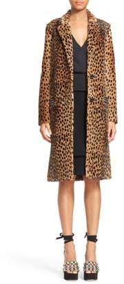 Alexander Wang Cheetah Print Genuine Kangaroo Fur Coat