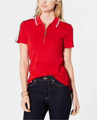 Tommy Hilfiger Cotton Zippered Polo Top