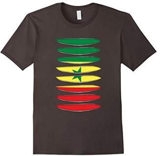Flag Senegal gifts torn tshirts