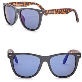 Steve Madden 54mm Square Polarized Acetate Frame Sunglasses