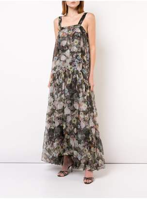 ADAM by Adam Lippes Printed Organza Gown