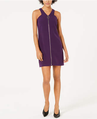 Bar III Zip-Front A-Line Dress