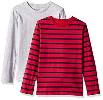 Amazon Essentials Toddler Boys' 2-Pack Long-Sleeve Tees