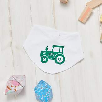 Owl & Otter Personalised Tractor Baby Bib