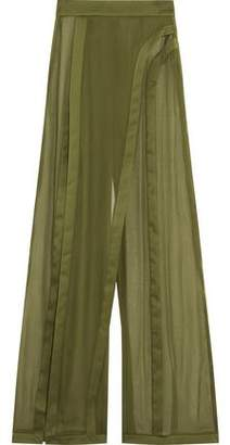Balmain Silk Wide-Leg Pants