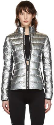 Paco Rabanne Silver Down Bodyline Jacket