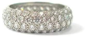 Tiffany & Co. Platinum Etoile 4-Row Diamond Band Ring