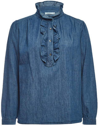 Closed Denim Blouse with Cotton and Linen