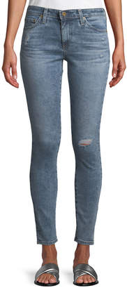 AG Jeans Middi Distressed Skinny Jeans