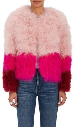 Lisa Perry WOMEN'S COLORBLOCKED FEATHER JACKET