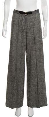 Milly High-Rise Wide-Leg Pants