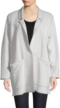Eileen Fisher Straight-Fit Notched Jacket