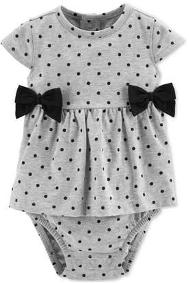 2f445b41cc Carter's Carter Baby Girls Dot-Print Bow Cotton Sunsuit