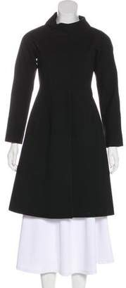 Theory Knee-Length Stand Collar Coat
