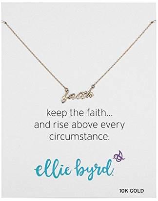 """ellie byrd 10k Gold 18"""" Faith Necklace"""