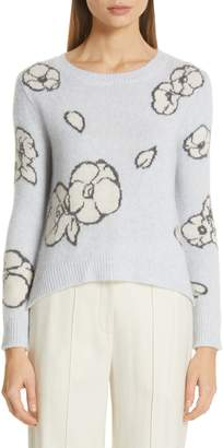 ADAM by Adam Lippes Intarsia Brushed Cashmere & Silk Sweater