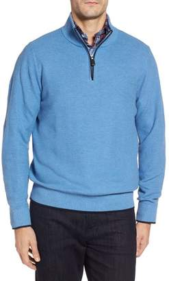 Tailorbyrd Killona Tipped Quarter Zip Sweater