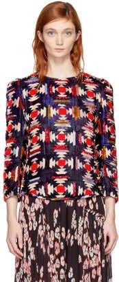 Isabel Marant Multicolor Tuline Quilted Velvet Blouse