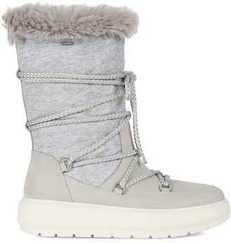 Geox Amphibiox Kaula Faux Fur-Lined Nubuck Nylon Tall Winter Boots