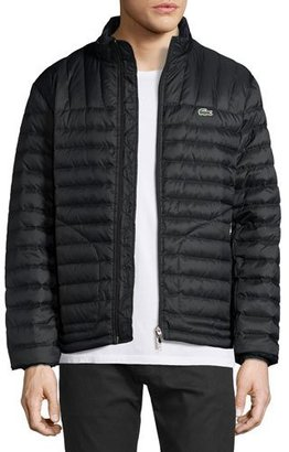 Lacoste Lightweight Quilted Down Jacket, Black $295 thestylecure.com