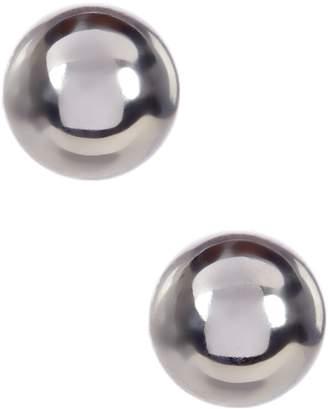Candela 14K White Gold Ball Stud Earrings