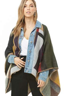 Forever 21 Woven Heart Colorblock Shawl