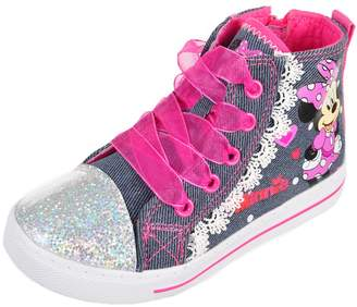 Disney Minnie Mouse Girls' High-Top Sneakers