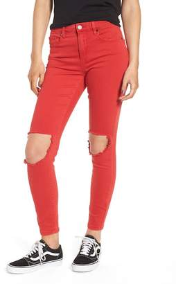 Blank NYC BLANKNYC Cry Baby Ripped Skinny Jeans (Better Off Red)