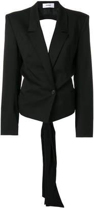 Chalayan wrap-front open-back blazer