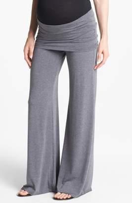 Maternal America Knit Flare Leg Maternity Pants