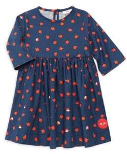 Smiling Button Little Girl's Candy Apples Fit-&-Flare Dress