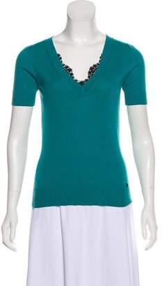 Gucci Cashmere Short Sleeve Top