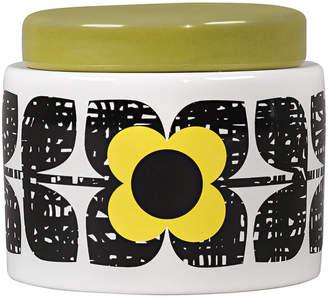 Orla Kiely Scribble Square Flower Storage Jar - Sunshine - Small