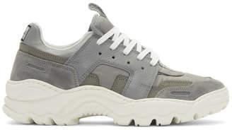 Ami Alexandre Mattiussi Grey Running Lucky 9 Sneakers