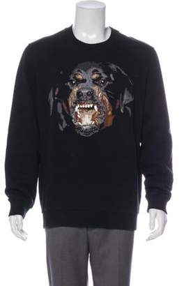 Givenchy Embroidered Rottweiler Sweatshirt black Embroidered Rottweiler Sweatshirt