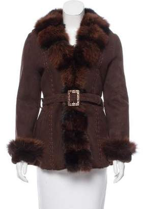 Belle Fare Shearling Trimmed Jacket w/ Tags