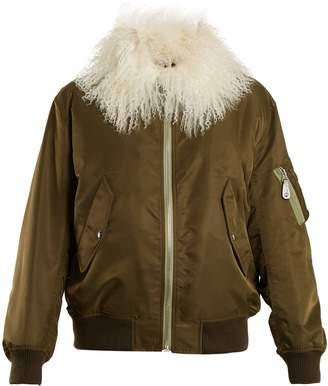 Yves Salomon ARMY Shearling-lined bomber jacket